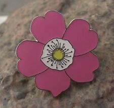Beautiful Rosa Canina Dog Rose Wild Flower Pink Bloom Brooch Pin Badge