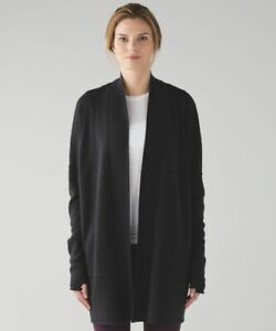 Lululemon Sit In Lotus Wrap size 10 Black NWT Merino Wool Cardigan 2016 Release