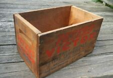 Peters Victor 16 ga 2 9/16 in Shot Shell Wood Box Crate