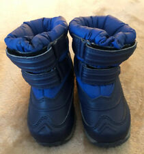 LL Bean Toddler SZ 6 EUC Blue Snow Tread Boot, Waterproof, Insulated, Hook&Loop