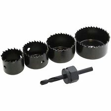 "5PC HOLE SAW SET DRILL BIT CUTTING CUTTER CIRCULAR,1-1/4"", 1-1/2"",2"",2-1/8"""