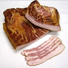 Hickory Pepper Smoked Country Cured Bacon with Rib Meat Pork Side Meat 2 POUNDS