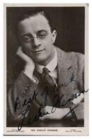 Antique Mr Leslie Henson hand signed autograph photographic postcard actor