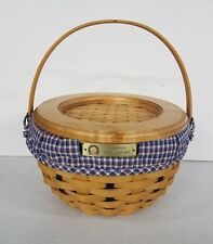 Longaberger 2002 Golf Club Tour Basket Combo w/ Family Signatures RETIRED New