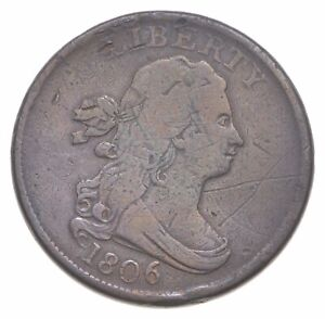 1806 Draped Bust Half Cent - Walker Coin Collection *691
