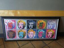 "Z Gallery Andy Warhol Marilyn Monroe Modern Pop Art Huge Print Framed 57"" x 26"""