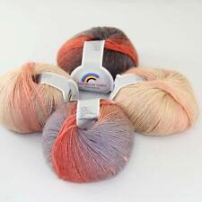 New 4Balls x50g Soft Warm Cashmere Wool Colorful Rainbow Shawl Hand Knit Yarn 03