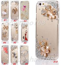 Glitter Luxury Bling Diamonds Stones gems soft tpu back Phone Case Cover Skin #D