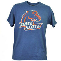 NCAA Boise State Broncos Distressed Logo Short Sleeve Mens Adult Blue Tshirt Tee