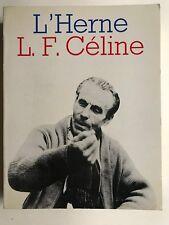 SAU Celine Vol. I., SAU CELINE, Céline, Biographies, les cahiers de l'Herne.