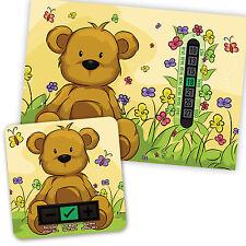 Beige Teddy Bear A5 Termómetro habitación & Beige Oso Baño Termómetro Set