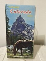 Vintage 1970 Colorful Colorado State Highway Map