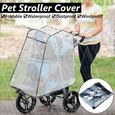 Pet Warm Dog Stroller Cover Cat Foldable Waterproof Clear Plastic Folding Travel
