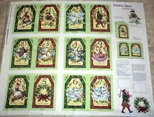 Christmas fabric panel TWELVE DAYS OF CHRISTMAS SOFT BOOK FABRIC  BTP  NEW 2016