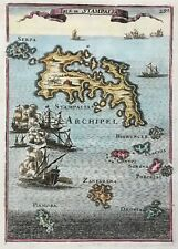 Greece Astypalaia 1683 Stampalia Dodecanese miniature by Mallet, antique map
