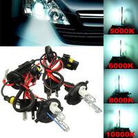 2X 12V H4 H4-2 35W 55W Hi-Lo Dual Beam Bulbs Xenon Headlight HID Light Lamp Kit