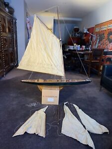 Schrooner Gaff Cutter Yacht Sailboat Sloop Replica Model Collectable Antique