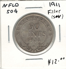 Canada Newfoundland NFLD 1911 50 Cent Filler Scratch
