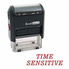 NEW ExcelMark TIME SENSITIVE Self Inking Rubber Stamp A1539 | Red Ink