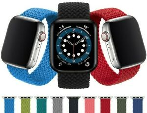 Fabric Nylon Solo Loop Braided Bands Compatible with Apple Watch 6 5 4 3 SE (UK)