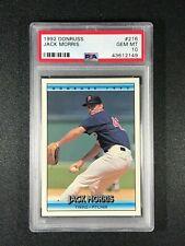 1992 Donruss  Jack Morris  PSA 10  Detroit Tigers  Minnesota Twins