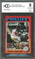 Steve Carlton Card 1975 Topps Mini #185 Philadelphia Phillies BGS BCCG 9