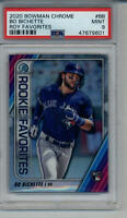BO BICHETTE CHROME ROOKIE OF THE YEAR FAVORITES PSA 9 MINT GRADED CARD BLUE JAYS