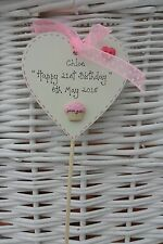 18th 21st 40th 70th any birthday cake topper personalised  wooden heart