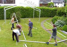 Festzelt Partyzelt Eventzelt Hochzeitszelt 6x3m weiss Traufe:2,25m PVC-LKW Plane