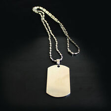 HOT Classic Modern Men Stainless Steel Dude Army Dog Tag Necklace Cool Chain LJ