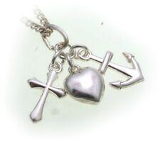 Anhänger Glaube Liebe Hoffnung echt Silber 925 Anker Herz Kreuz Sterlingsilber