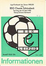 DDR-Liga 80/81 BSG Chemie Leipzig-BSG Chemie Schönebeck 12.04.1981