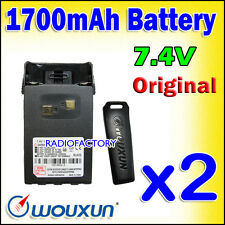 2x WOUXUN 1.7A Battery for KG-UVD1 KG-UV6D KG-699 KG-679 KG-689 2-033