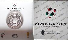 Medaglia ufficiale in argento mondiali calcio Italia campione 1990