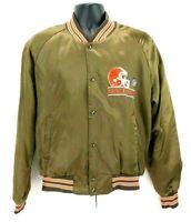 Vintage Mens Large Chalk Line Cleveland Browns Satin Jacket Long Sleeve
