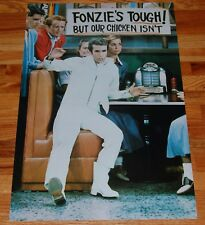 HAPPY DAYS The Fonz Fonzie Tough White Suit Al's Poster 1976 Pro Arts Winkler