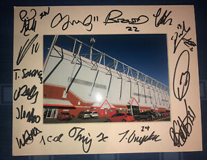 Crewe Alexandra FC 21/22 HAND SIGNED 10x8 MOUNT DISPLAY Signed By 17 Players B