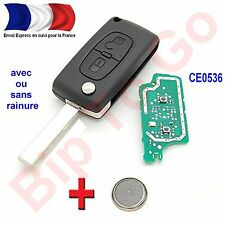 Plip peugeot CE0536 106 206 207 208 307 308 406 806 807 2 boutons + éléctronique