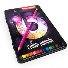 Bruynzeel Crayons de Couleur - 12 Assortis en Métal Coffret Cadeau - Rose
