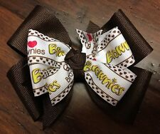 *Girl Scouts*  Brownies Hair Bow Boutique Brand New Pinwheel Handmade Clip