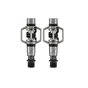 Pair Pedals Eggbeater 2 Silver - Black Crank Brothers MTB Bike Pedals
