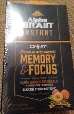Onnit Alpha Brain Instant MEMORY & FOCUS Natural Peach Flavor 30 Ct. Box