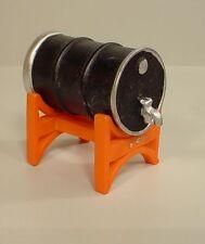 Industrial Drum and Rack w Spigot Miniature 1/24 Scale G scale Diorama Accessory