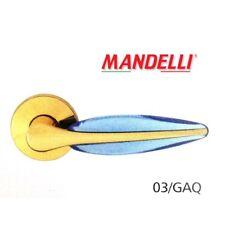 Maniglia per porta Mandelli serie Duo art.3121 Oro + Metacrilato Acquamare