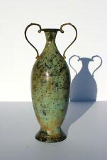 Vintage Handmade Iron Amphora Vessel Mediterranean Style Made in India