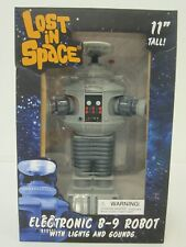 """Lost in Space 11"""" Electronic Toy B-9 Robot with lights and sounds NIB"""
