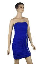 Strapless Polyester/Spandex Short Sleeve Dresses for Women