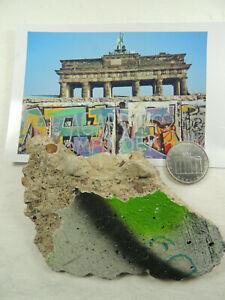 ORIGINAL Berliner Mauer-Stein + DDR Münze 5 Ostmark !!!