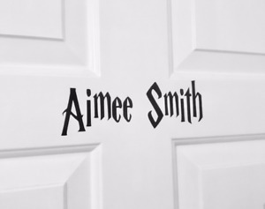 Harry Potter Style Personalised Wall Door Name Decal Sticker Great Gift.