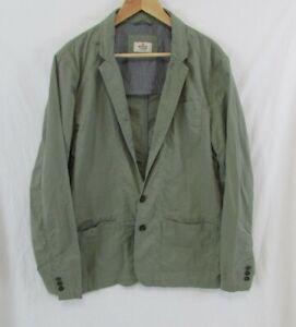 Marine Layer Mens Olive Green 2 Button Sports Jacket Blazer Unconstructed sz XL